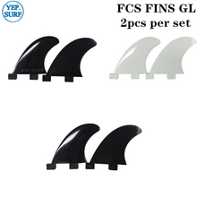 Surfing Plastic Surfboard FCS Fins GL Black/ White Fin 2 pcs per set