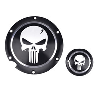 Motorcycle Black Skull Derby Timer Cover Clutch Timing Cover For Harley Davidson Sportster Iron XL 883