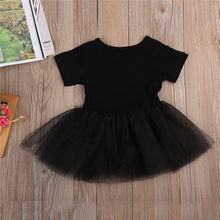 Infant Toddler Newborn Baby Girls Tulle Rock N Roll Romper Dress Playsuit Short Sleeve Sunsuit Outfits Set 0-3T