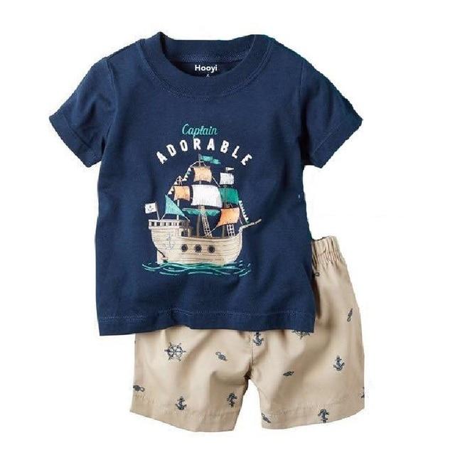 Grey Boy Pajamas Clothes Suit Summer Short Racing Motorcycle Children Pj's Tee Shirt Pant 2-Pieces Sleepwear Boys Tops 2-7 Years 4