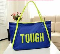 Canvas Bag Female One Shoulder Multifunctional Travel Handbag Beach Fitness Nappy Bag Large Capacity