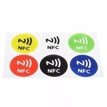 6 шт. Водонепроницаемый NFC метки NTAG213 чип RFID клейкая этикетка наклейка для поддержки Android NFC телефон