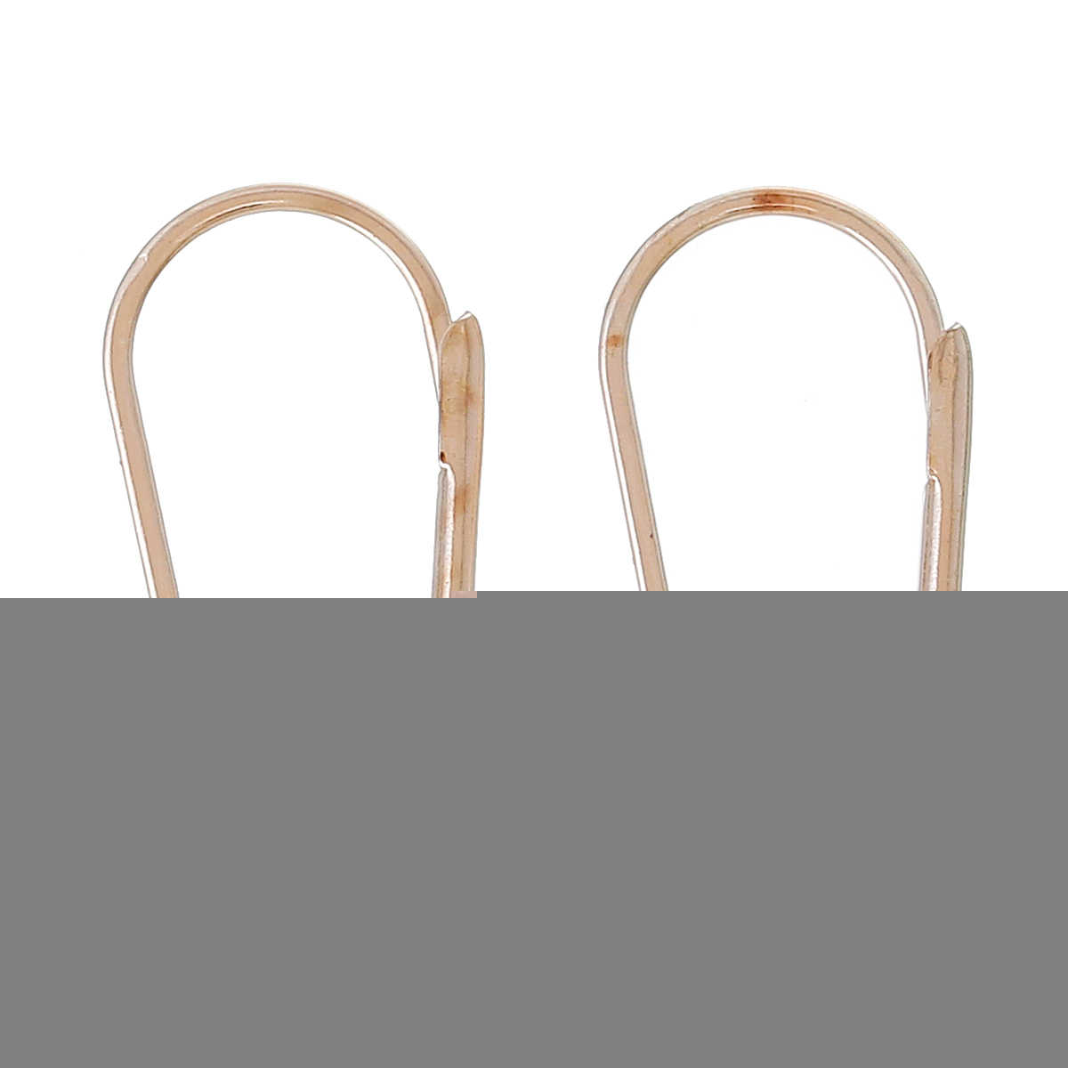 "DoreenBeads אבץ מתכת סגסוגת עגיל רכיבים קליפים עגיל ממצאי עלה זהב 18 מ""מ (6/8 "") x 11 מ""מ (3/8 ""), 4 יחידות"