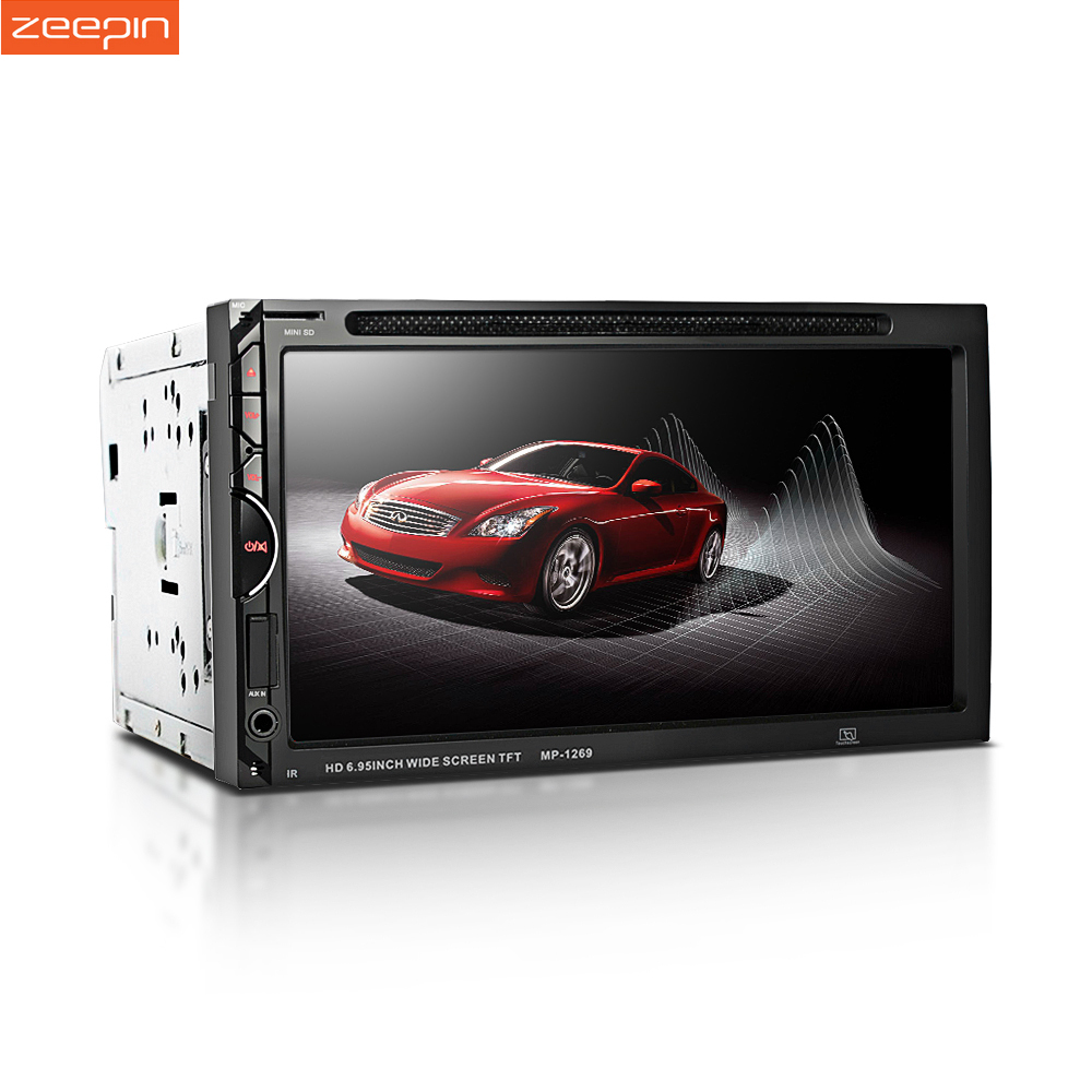 2 Din Car DVD Player 7'' Touch Screen FM Bluetooth USB Aux Stereo Radio Auto Radio Car MP3 Player Support Rear View Camera
