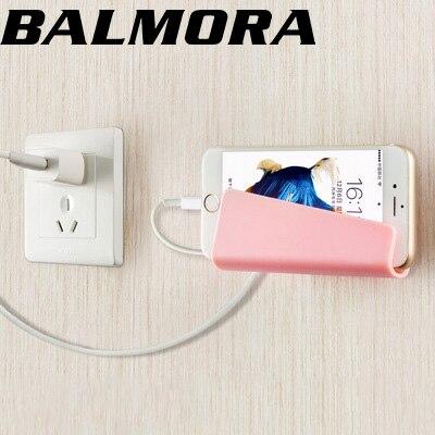 BALMORA Phone Holder Stand Universal Wall Phone Holder Smart Phone Holder for iPhone Tablet Samsung Xiaomi huawei Mount Support