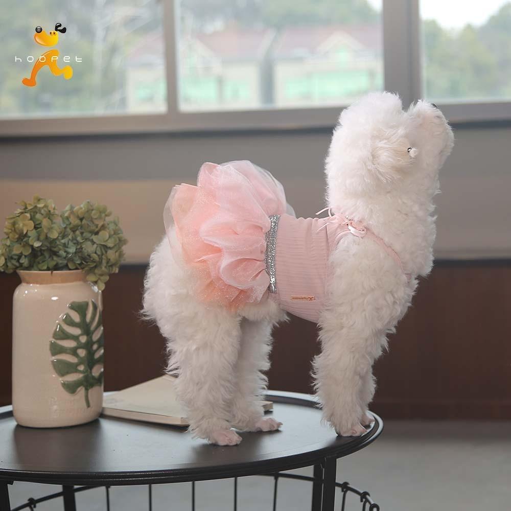 Hond Jurk Elegante Luxe Zomer Tule Corsage Vest Mesh Jurken Strik Zwart Roze Meisje Hond Kleding Voor Kleine Honden Huisdier Jurk Kwaliteit En Kwantiteit Verzekerd