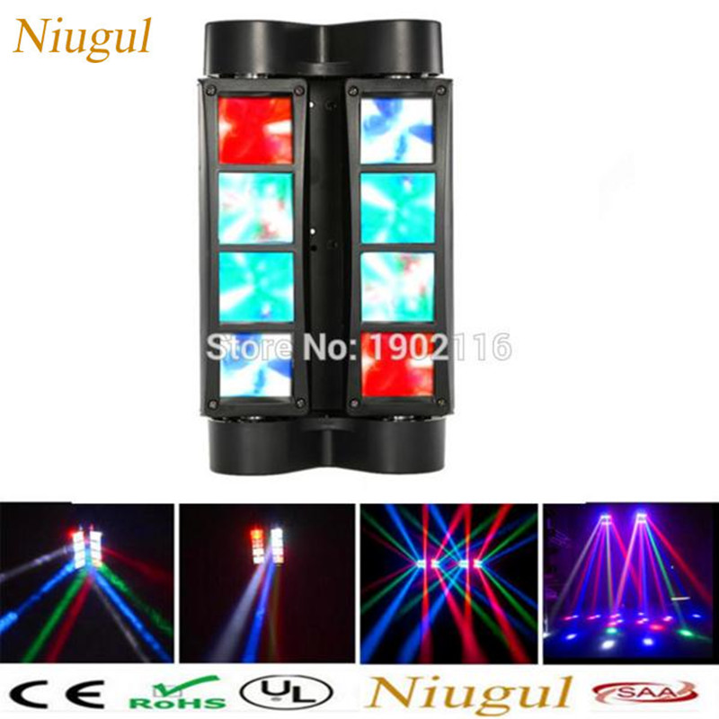 2018 H0T Mini LED Spider 8PCS leds Beam moving light/Professional DMX Stage effect Lighting/led Disco DJ lighting/wedding lights rg mini 3 lens 24 patterns led laser projector stage lighting effect 3w blue for dj disco party club laser