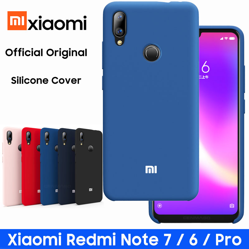 Redmi Note 7 Case Official Original Soft Silicone Case XIAOMI Redmi Note 6 7 K20 Pro 6A 7A Case Global Version Back Cover