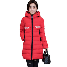 Winter Women Jacket Women winter jacket 100% High quality Large size Hooded warm cotton jacket Elegant Female Parkas