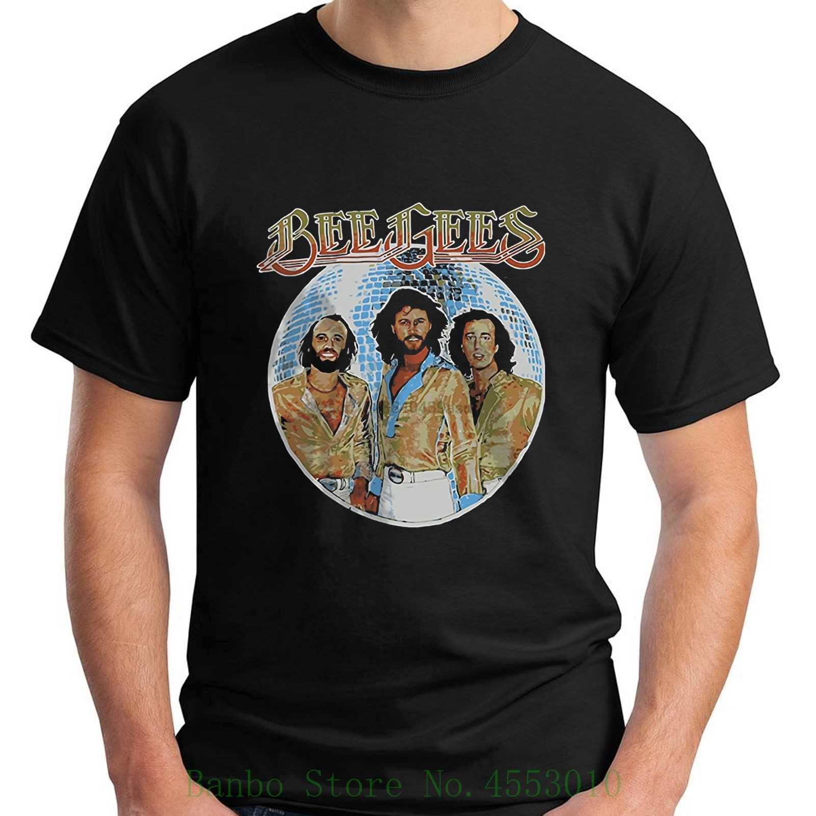 New Bee Gees Disco Ball Short Sleeve Black Men T Shirt Size S - 5xl New T Shirts Unisex Funny Tops Tee