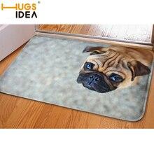 Hugsidea divertidos felpudo de entrada 3d dog soft flanner carpet hermosa escénica tapis alfombras de alfombra de la sala de estar dormitorio salon