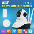 BW CMOS Onvif HD 720P Wireless Wifi Security Camera P2P Baby Monitor IP CCTV Accessory Smoke Detector Buzzer Gsm Alarm System