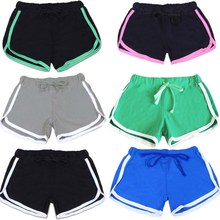 цена Esportes Fast Drying Drawstring Women Sport Running Shorts Anti Emptied Cotton Contrast Elastic Waist Correndo Shorts GYM Yoga в интернет-магазинах