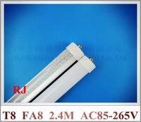 Single Pin FA8 LED Tube Light Lamp SMD 3014 LED Fluorescent Tubes T8 2 4m 2400mm