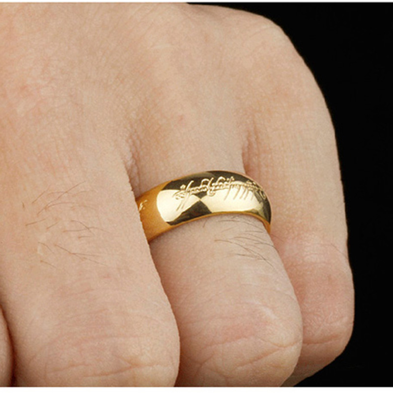 Hot DealsRings Jewelry One-Ring-Of-Power Stainless-Steel Gold-Color High-Quality Women for