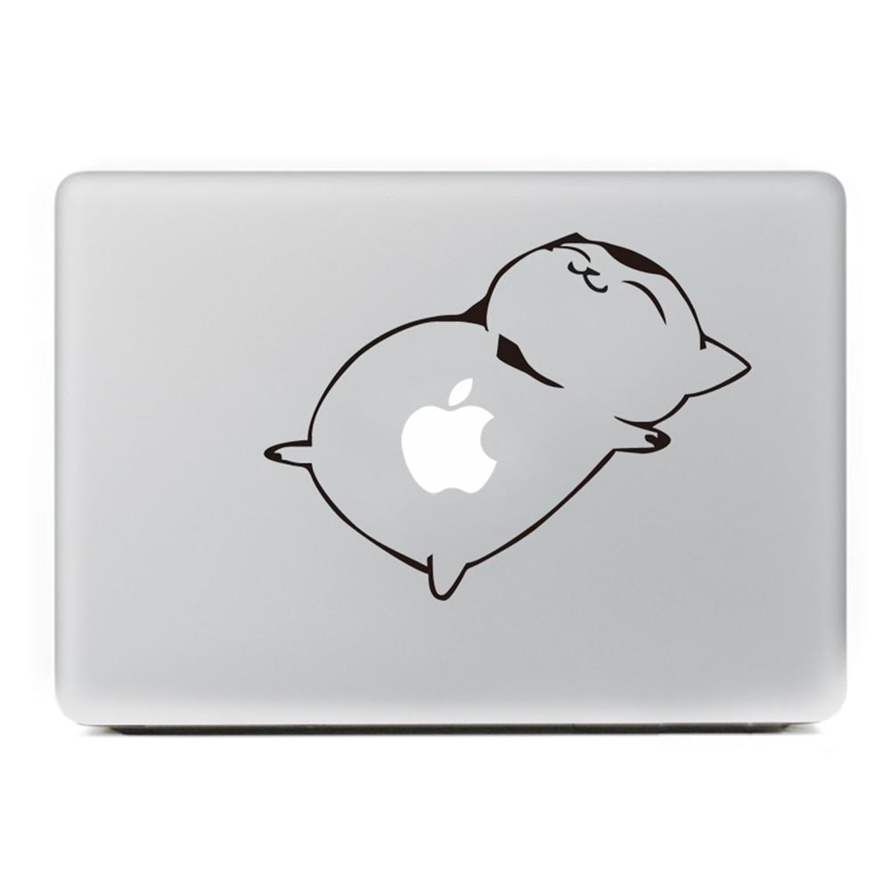 Cute fat cat Laptop Sticker for MacBook Decal Air/Pro/Retina 11 13 15 Computer Mac Cool skin Pegatina para notebook