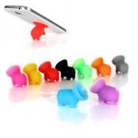 Kreatywny silikonowy świnia kształt stojak na telefon przyssawka uchwyt uniwersalne narzędzie