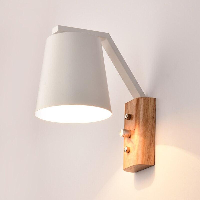 Japanische Moderne Holz Eisen Wandleuchten Wandlampen Wohnzimmer Restaurant Schlafzimmer Dekorative Lamparas Hause E27China