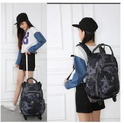 Bagaż walizka dla kobiet kobiet plecak na kółkach 22 Cal plecaki na kółkach do przenoszenia torby podróżne wózek na bagaż plecak torba