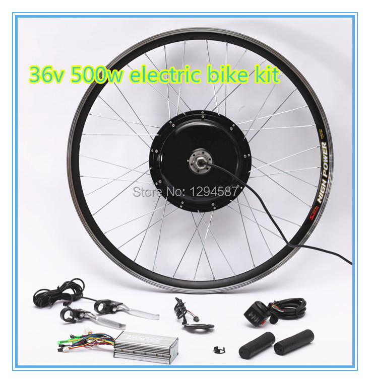 Free shipping , Ebike hub motor 36v 500w electric bike kit , 36v ebike kit for sell free shipping 2017 china cheapest ebike crank motor