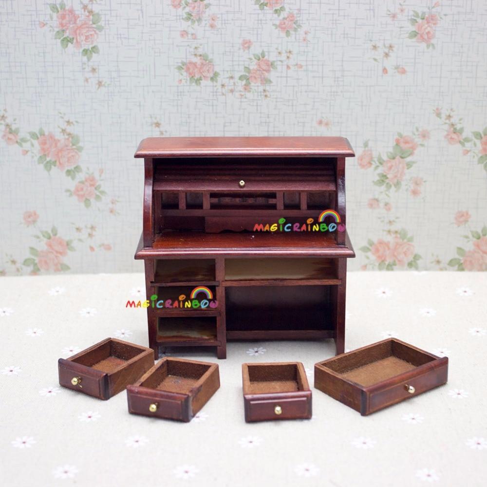 Dolls House BLACK scrittura scrivania tavolo con cassetto MOBILI IN MINIATURA 1:12 Studio