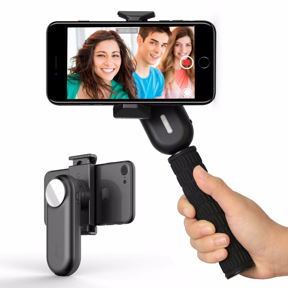 Cadiso Fancy 1-Axis Professional Video Smartphone Gimbal Handheld Stabilizer for iPhone Samsung Galaxy Phone for Live x cam sight2 2 axis smartphone handheld stabilizer mobile phone brushless gimbal with bluetooth for iphone samsung xiaomi nexus