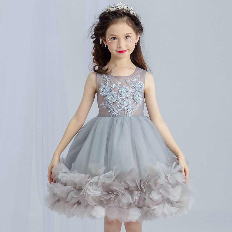 Summer Style 3 12y Kids Dress For Girls Clothes Flower Lace Princess