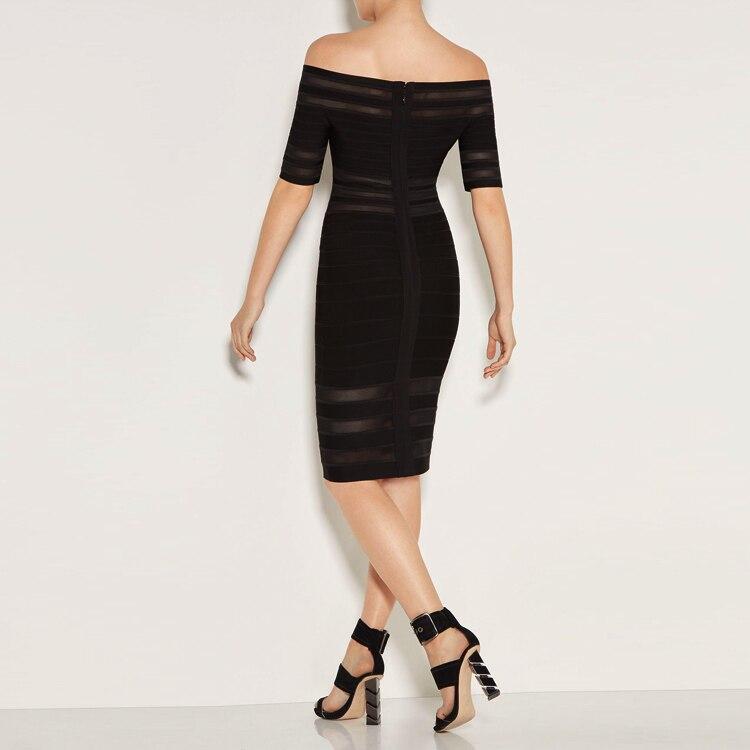 De L'épaule Qualité Top Femmes Cou Slash Mode Robes Outre Robe Sexy Party Discothèque Celebrity Élégante Bandage wSqI7g1