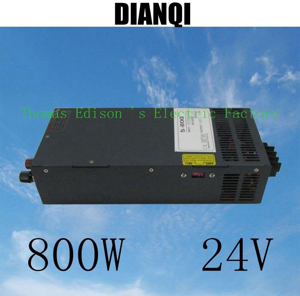 ФОТО power suply 24v 800w  high quality input 110v 220v output 24v S-800-24 ac to dc power supply ac dc converter