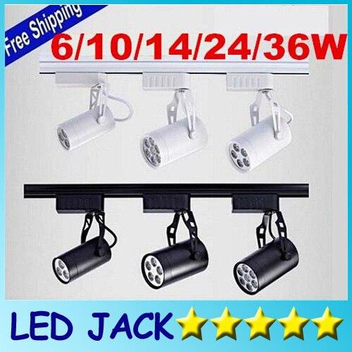 DHL Cool white Led Track Light 24W  120 Beam angle Led Ceiling Spotlight AC 85-265V led spot lighting + CE ROHS CSA UL