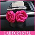 Ladycrstal Rosa Lindo Bolso Del Teléfono Móvil de múltiples funciones Auto Suministros de Bolsa de Almacenamiento de los Bolsillos
