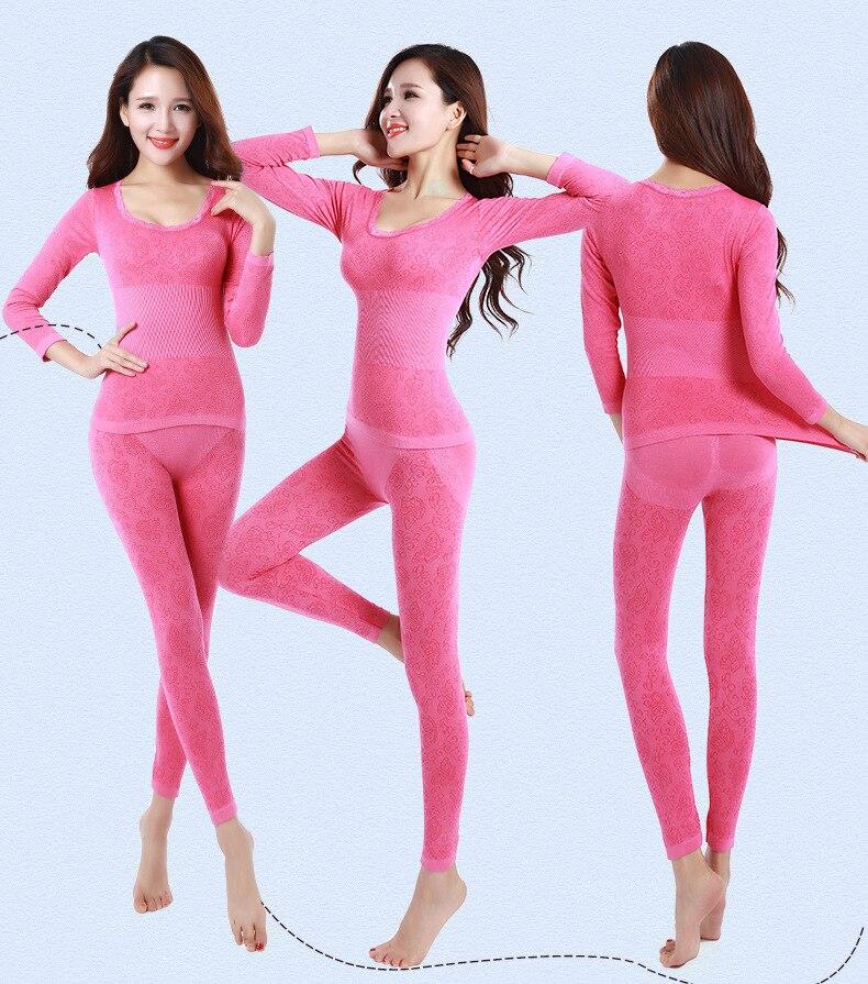 Long Johns Women For Winter Sexy Women Thermal Underwear Suit Women Body Shaped Slim Ladies Intimate Sets Female Pajamas Warm 67