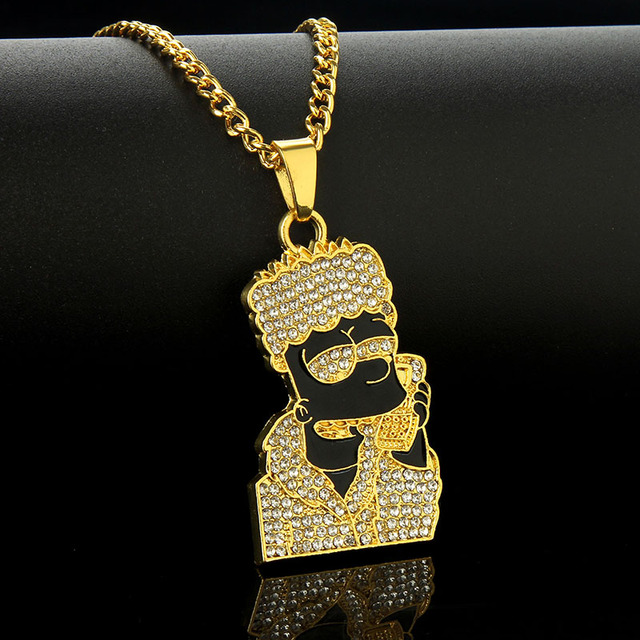 Cartoon Simpsons Pendant Necklace