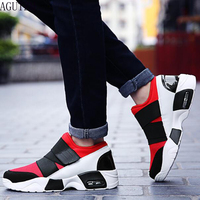 New Unisex Casual Shoe Air Breathable Casual Fashion Krasovki boty calcados obuv Tenisky Flats Height Increasing shoes men q55