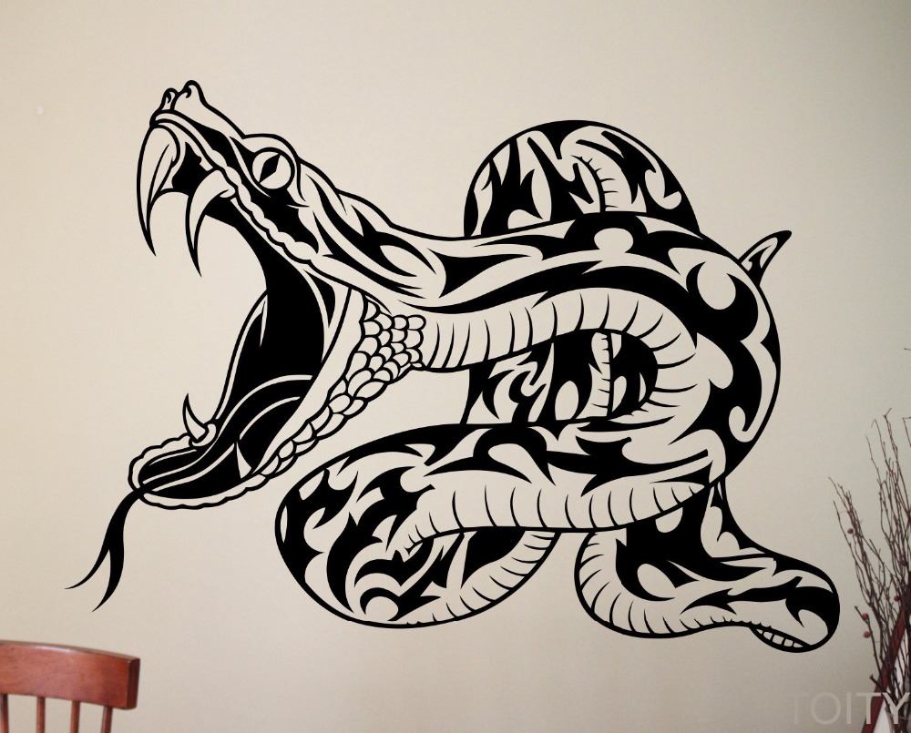 snake wall vinyl sticker reptiles animal decal home