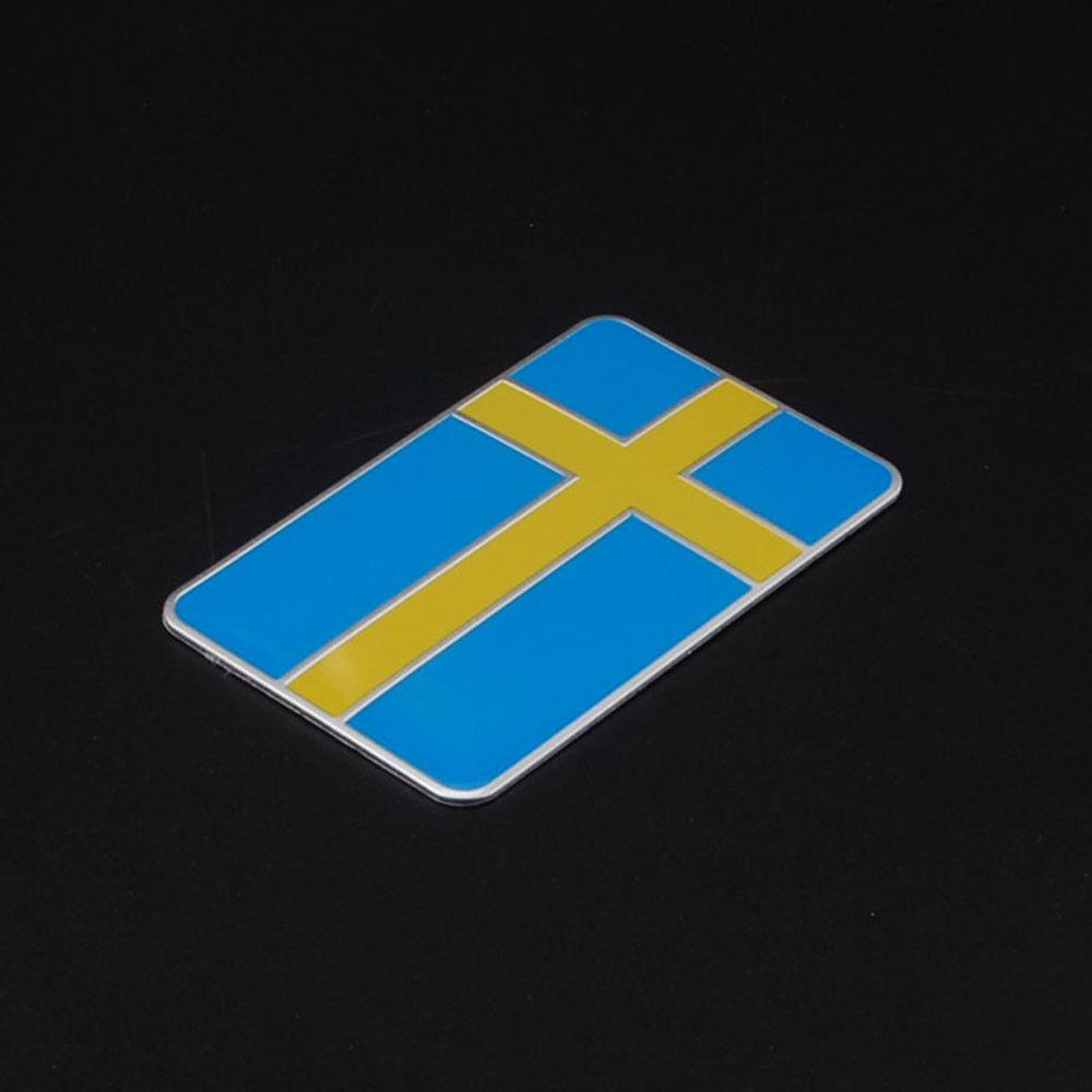 Барбекю@ФУКА стороны автомобиля спереди заднего кузова Швеция шведский флаг эмблема наклейка графики наклейки Универсальный автомобиль укладки наклейки