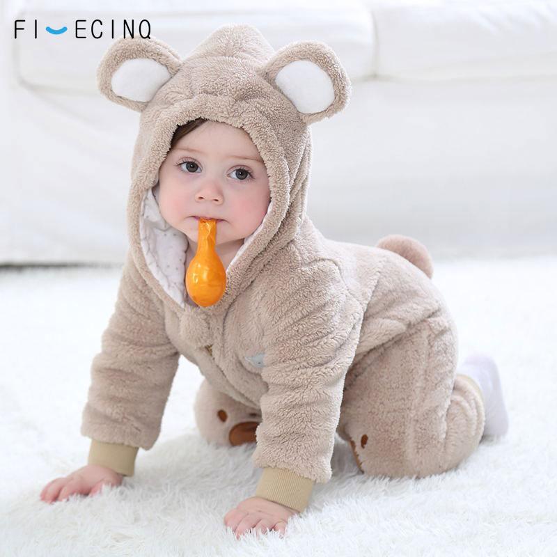 Baby Bear Costume Animal Cartoon Cosplay Kigurumis Cute Onesie Childer Suit  Boy Girl Flannel Winter Warm Fancy Outfit
