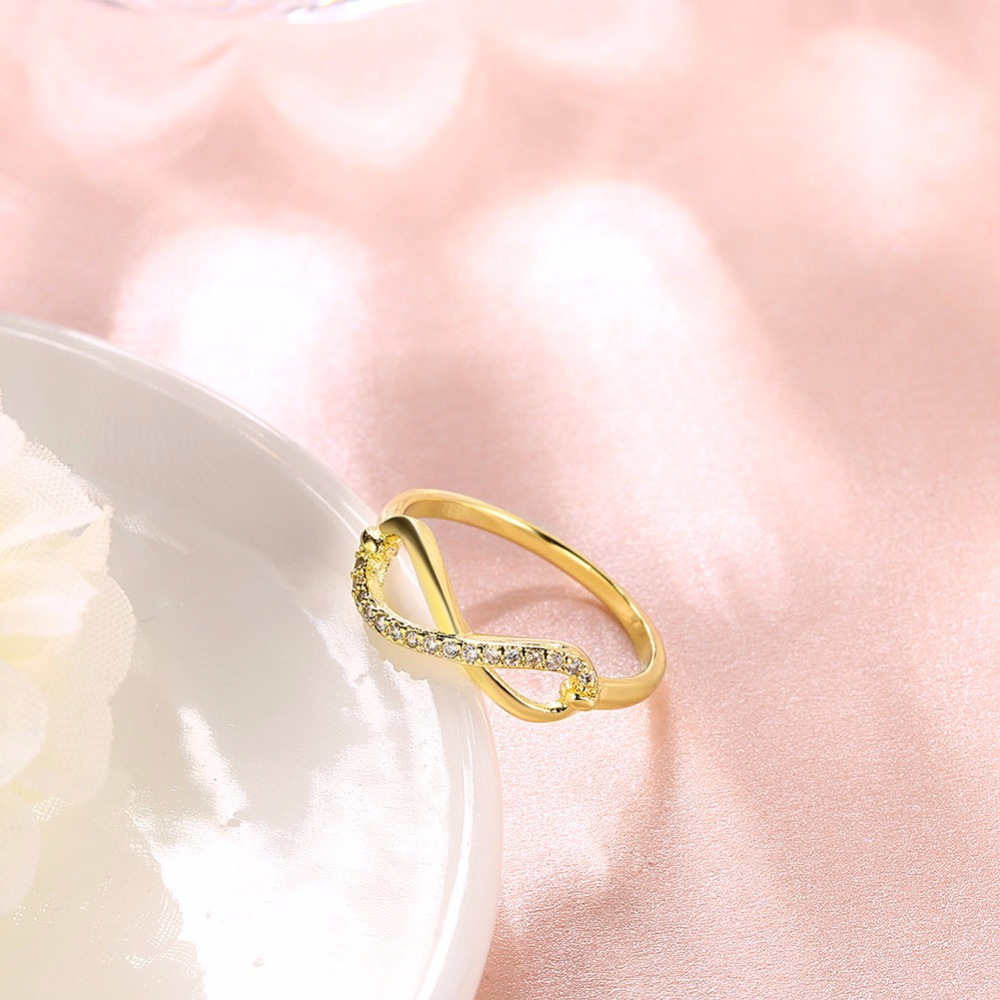 MEECAT Zircon 8 word Rings For Women fashion Jewelry Gold Color ...