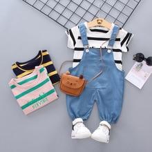 Summer Baby Boy Girl Clothes Infant Fashion Color Striped T Shirt Shorts 2pcs/sets Kids Cotton Garment Children Casual Tracksuit