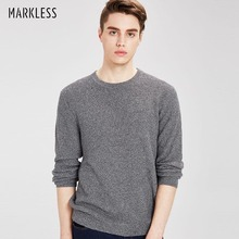 Markless Pullover Sweater Men 2018 Autumn Winter Thick Warm O-neck Sweaters Solid Color Loose pull homme sueter hombre
