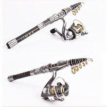 Long Telescopic Fishing Rod and Fishing Reel