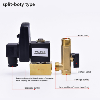 AC 220V 1/2 Electric Timer Auto Water Valve Solenoid Electronic Drain Valve for Air Compressor Condensate DN15 air compressor 1 4pt male thread water drain valve gold tone 6 pcs