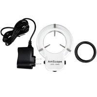 Amscope 144 led 조정 가능한 소형 현미경 링 라이트 + 어댑터 LED-144S