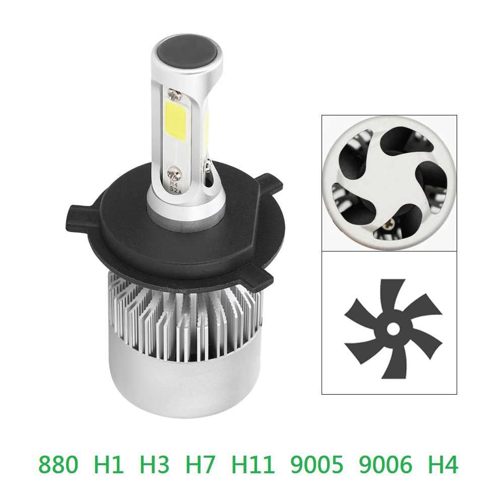 ANBLUB 1pcs 12V 24V LED Car Headlight 36W 6000K 880 H1 H3 H4 H7 H11 9005 9006 Super Bright COB LED Headlamp Bulb Super Bright