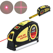 Multifunctional Infrared Laser Level Meter +5.5 m Tape Cross Point Line Vertical Measuring Tool