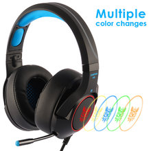 Onikuma K9 Gaming Headset Casque Pc Stereo Gaming Hoofdtelefoon Met Microfoon Led Licht Voor Laptop/ PS4/Xbox Een controller Gamer(China)
