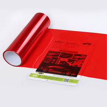 0.3*10m roll PVC  headlight film Red  for car head decoration 12 colors option free shipping free shipping cube applicator coater film coaters application applicators wet film width 12 7mm
