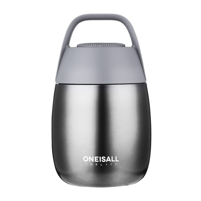ONEISALL 450ML Food Thermos Container Thermos Bottle for Soup with Thermo Bag Vacuum flask Insulation Soup Pot Stew Pot