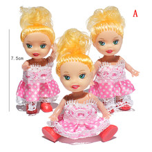 1Pc Little Kelly Doll Toys Fashion Cartoon Princess Dolls Sister Kelly Dolls Mini Doll Toys for Girl Kids Birthday Gift Toys(China)