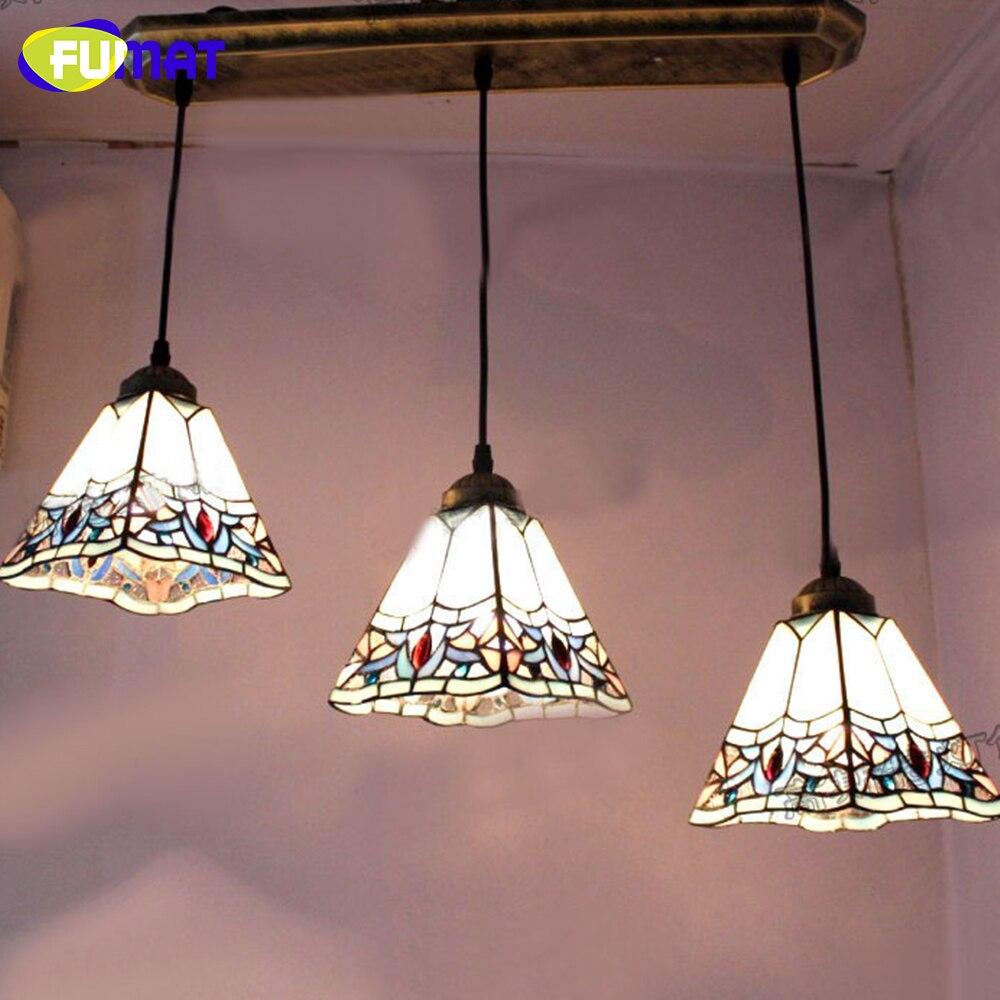 Lampe Salon Salle À Manger fumat bleu pendentif lumières européenne vintage pendentif